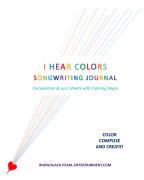 I Hear Colors Songwriting Journal book cover