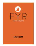 FYR Literary Magazine book cover